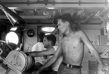Underway watch in the pilot house